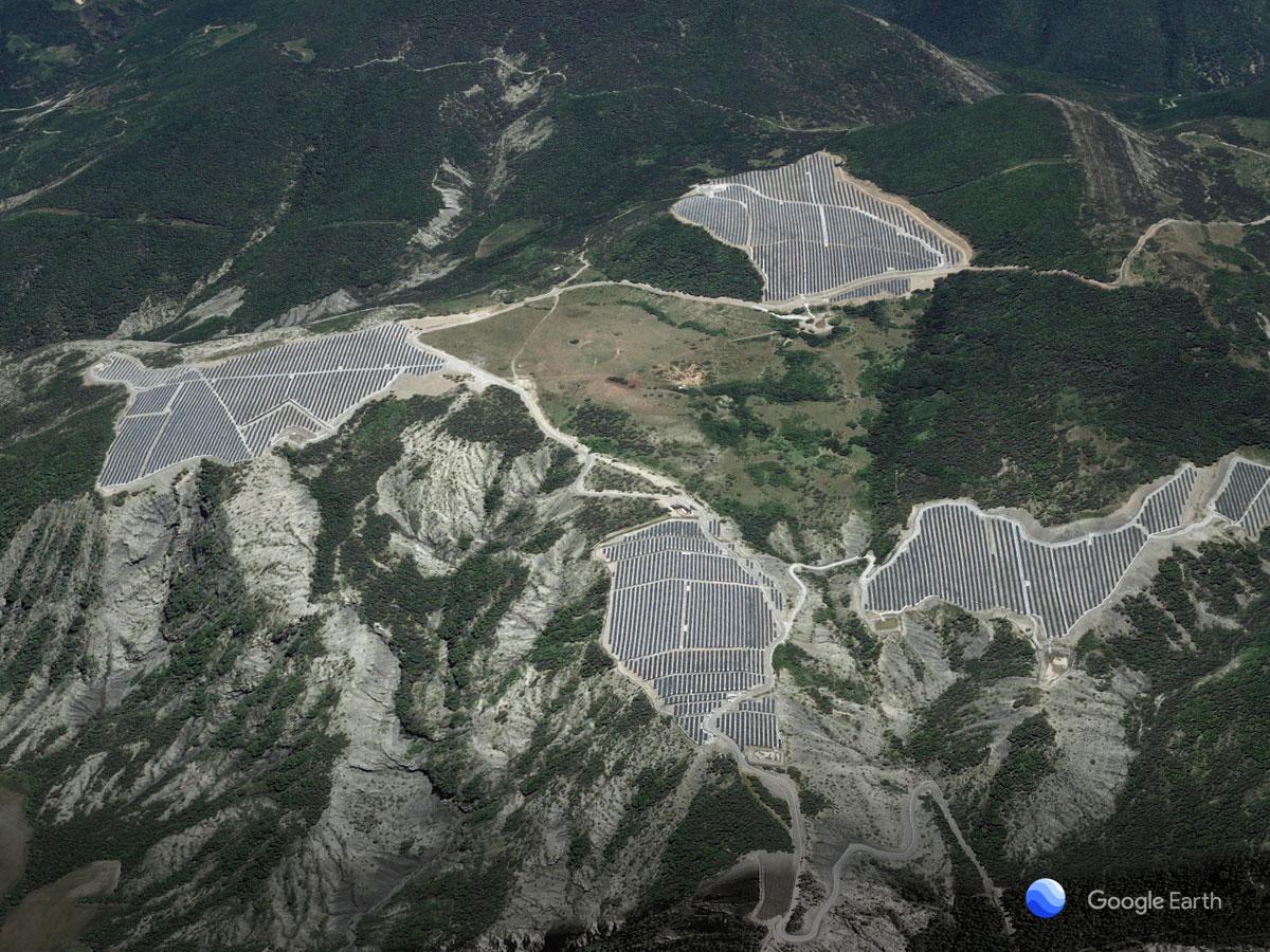 Parque eólico en Curbans (Francia)
