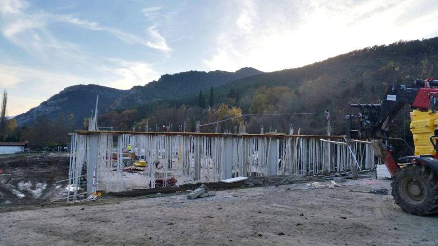 La Construcción Del Nuevo Colegio De Roncal Avanza Según Lo Previsto.