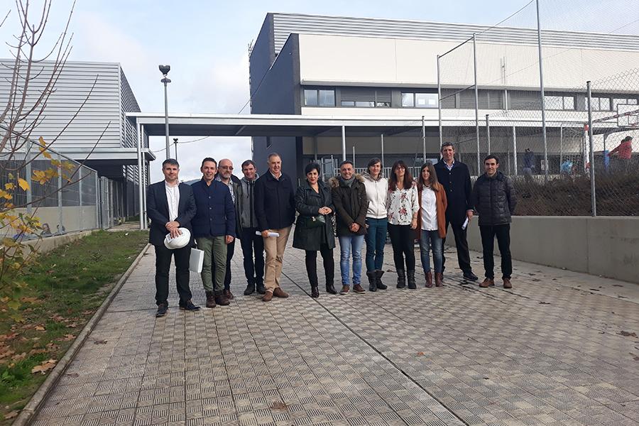 La Consejera De Educación Comprobó In Situ El Buen Avance De Las Obras En Los Centros Educativos De Sarriguren